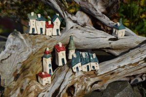 små huse til dekoration